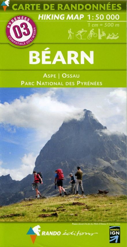 Rando Editions 1:50,000 Walking Map Of the Pyrenees Map 03 - Bearn - Ossau - Pyrenees